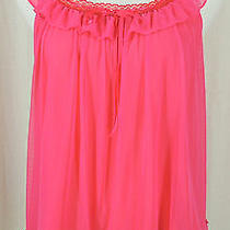 Victoria's Secret M Pink & Red Sexy Little Things Nightie Lingerie Teddie Photo