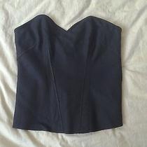 Victoria's Secret Moda Wool Sweetheart Zip Strapless Bustier Corset - Black Sz 2 Photo