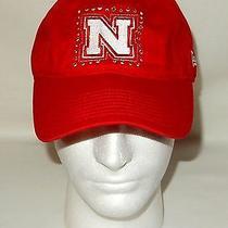 Victoria's Secret Nebraska Baseball Cap Hat Bling New Era Adjustable Red Pink Photo