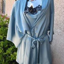 Victoria's Secret Nwt 2pcs Aqua Green/dark Blue Size 0s and L Chemise W/robe  Photo