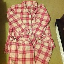 Victoria's Secret Pajama Set Size Medium Pink Plaid Euc Photo