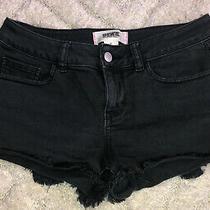 Victorias Secret Pink Black Cutoff Jean Shorts Size 4 Photo
