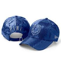 Victoria's Secret Pink Bling All-Over Sequins Indianapolis Colts Nfl Hat Cap New Photo