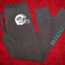 Victoria's Secret Pink Boyfriend Sweat Pants Yoga Ny Jets Sz S Skinny Gray A5 Photo