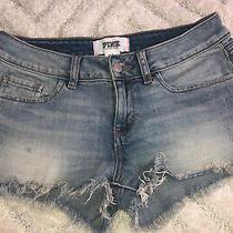 Victorias Secret Pink Denim Cutoff Jean Shorts Size 4 Photo