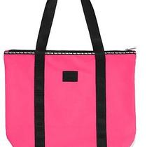 Victoria's Secret Pink Double Shoulder Strap Ziptop Pink Handbag Tote Gym Bag Photo