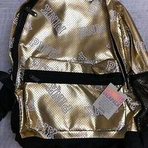 Victoria's Secret Pink Fashionshow Exclusive gold&whitelogo Backpack Soldout Photo