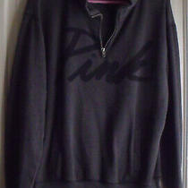 Victoria's Secret Pink Gray Long Sleeve 1/4 Zip Pullover Top Size S Photo