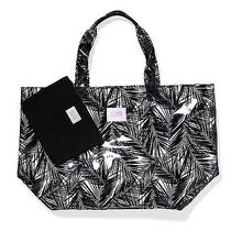 Victoria's Secret Pink Large Plastic Beach Pool Travel Tote Bag Small Makeup Bag Photo