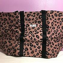 Victoria's Secret Pink Leopard Cheetah Travel Getaway Bag Tote Canvas Travel New Photo