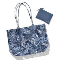 Victoria's Secret Pink Limited Edition Summer Blue Tropical Tote With Pouch Photo