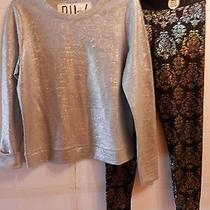 Victoria's Secret Pink Metallic Gray Sweatshirt & Yoga Legging - Small - Nwt Photo