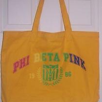 Victoria's Secret Pink Phi Beta Canvas Tote Bag. Nwt Photo