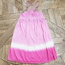 Victoria's Secret Pink Pink Mini Dress or Swim Cover-Up Cotton Size L Photo