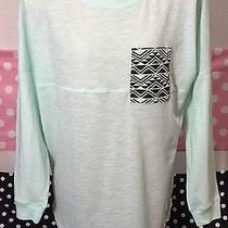 Victoria's Secret Pink Pocket T Shirt Mint Green Long Sleeve Small New V83 Photo