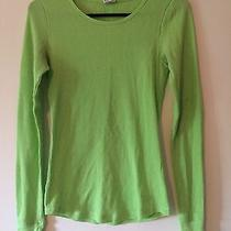 Victoria's Secret Pink Thermal Long Sleeve Tee in Lime Green Size Small Photo