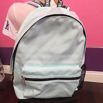 Victoria's Secret Pink vs Campus Backpack New Nwt Mermaid Teal Blue Turquoise Photo