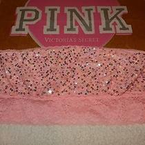 Victoria's Secret Pink Wireless Lace Bandeau Bra Medium Pink Reg28 Photo