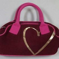 Victoria's Secret Red and Pink Gold Heart Charm Hand Bag Photo