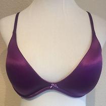 Victoria's Secret Scoop Neck Bra Purple 36c Adjustable Straps Wireless Photo