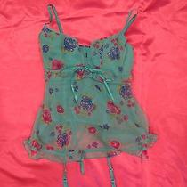 Victoria's Secret Sexy Little Things Teal Floral Corset Babydoll 36c Photo