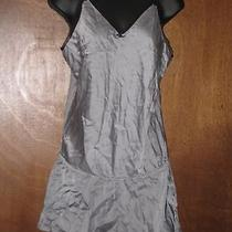 Victoria's Secret Silk Romper Women's Size Large Gray Nightie Lingerie Photo
