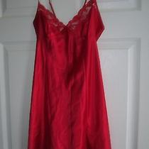 Victoria's Secret Size Small Short Red Nightie Teddy Ties at Back Photo