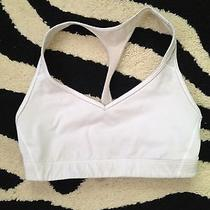 Victoria's Secret Sport the Player Racerback Sports Bra Small White Worn Photo