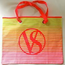 Victoria's Secret Summer Sunset Tote Pink Orange & Yellow  New Photo