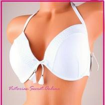 Victoria's Secret Swim Bikini Top 36d Fabulous Plunge Halter Padded Push-Up  Photo