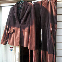 Victoria's Secret Velvet Jacket Blazer & Christie Fit Pants Sz 14 16 Plum Wine Photo