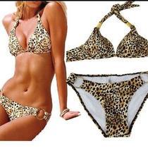 Victoria's Secret/ Venus Like Bikini. Leopard/ Gold New Small Photo