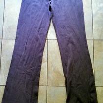 Victoria's Secret Yoga Pants Stretch Grey Teal Great Condition Medium Free Ship Photo