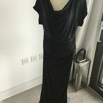 Victoria Secret Black Jersey Ruched Side Maxi Dress Size Xs Photo