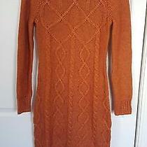Victoria Secret Cable Knit Turtleneck Sweater Dress Photo