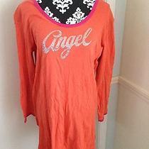 Victoria Secret Orange Angel Long Sleeve Nighty Sz M Photo