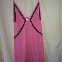 Victoria Secret Pink & Black Lace Nightie Nightgown Babydoll Size S Small Photo