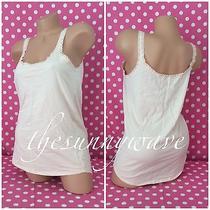 Victoria Secret Pink Cami Lace Straps Blush Top Sleepwear Blouse Tank Nwot L Photo