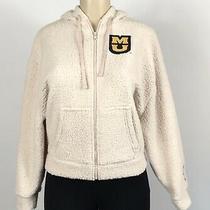Victoria Secret Pink Collegiate Collection Mu Sherpa Hoodie Jacket Size Xs New Photo