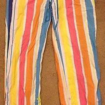 Victoria Secret Pink Womens Ladies Multi Color Striped Pajama Pants Size S Photo