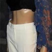 Victoria' Secret Seasonless Christie Fit Flare Antique White Pants 10 Photo