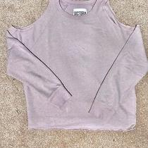 Victoria Secret Sport Sweatshirt W/shoulder Cut-Outs Size Small Blush Pink Photo