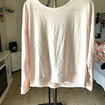 Victorias Secret Blush Pink Open Back Ribbon Short Sweatshirt Xl Photo