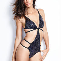 Victorias Secret Fashion Show 2014 Sequin Bling Cut Out Strappy Teddy Medium Nwt Photo