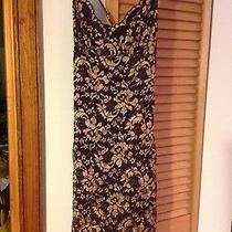 Victorias Secret Hugo Buscati Lace Dress W/ Jacket Brown Gold Small New Photo