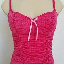 Victorias Secret Lingerie Corset Bra Top Sexy Little Things Pink Polka Dots Sz M Photo