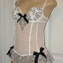 Victorias Secret Lingerie Teddy Bustier Corset Bra Sleepwear 34b White Photo
