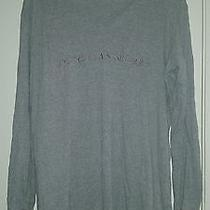 Victorias Secret Long Sleeve Gray Pajama Shirt Night Gown Large L  Photo