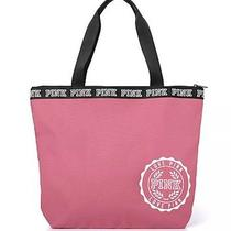 Victorias Secret Love Pink Friday Blush Tote & Metal Water Bottle Nwt Fall Bag Photo