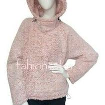 Victorias Secret Pink Fleece Sherpa Pullover Pocket Hoodie Jacket Pink Blush Photo